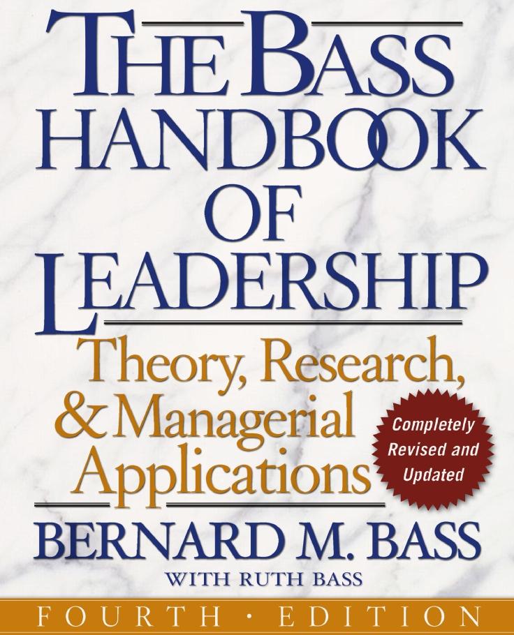 El Libro sobre Liderazgo, Teoría, Investigació y Aplicaciones Gerenciales, por Bernard M. Bass